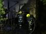 Požár garáže v Zadní Třebani 10-2017